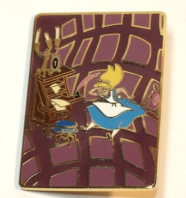 Disney Auctions Pin Alice in Wonderland Alice Falling Down the Hole Pink Purple