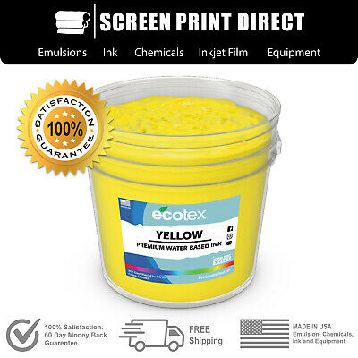 Ecotex YELLOW - Premium Water Based Ink for Screen Printing - ALL SIZES