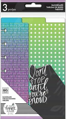 Happy Planner Girl: Healthy Hero Mini Dash Boards 3 Dashboards With Top Tabs