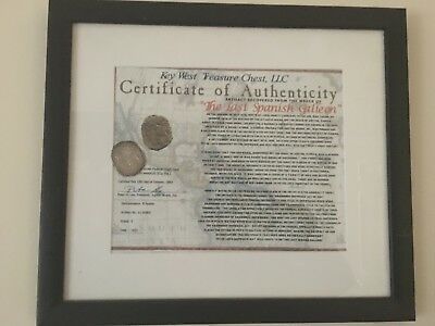 Authentic Spanish Shipwreck coin from Jupiter Beach wrecksite
