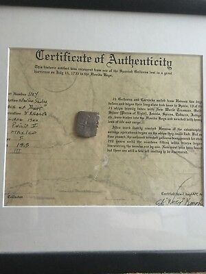 Authentic Spanish Shipwreck Coin 1733 Fleet