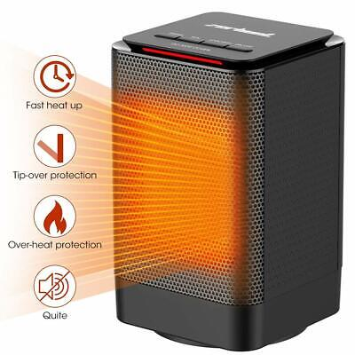 Ceramic Space Heater Portable Fast Heating Electric 1500W Adjustable Warmer