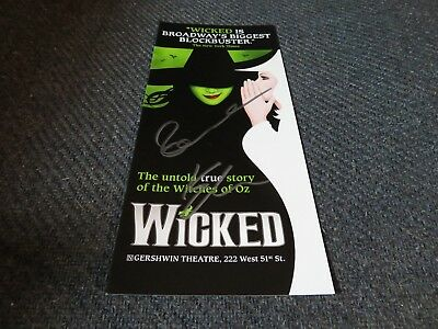Idina Menzel and Kristen Chenoweth Signed Wicked Ad