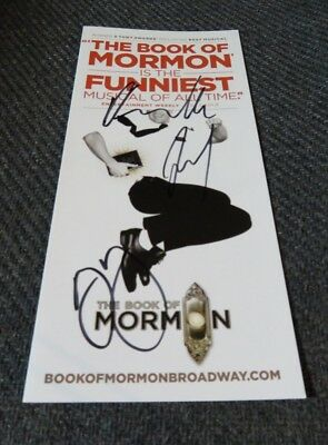 Andrew Rannells, Rory OMalley, Josh Gad Signed Book Of Mormon Ad