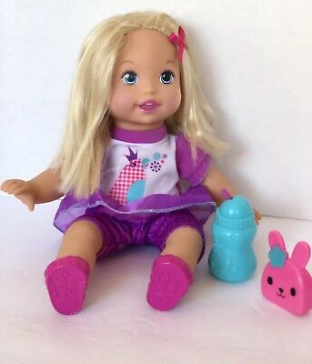 2011 Mattel Little Mommy Doll Blonde Hair Baby Talk with Me Repeating COMPLETE