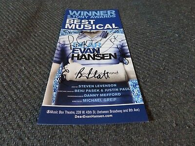 Dear Evan Hansen Ben Platt Original Broadway Cast Signed Ad