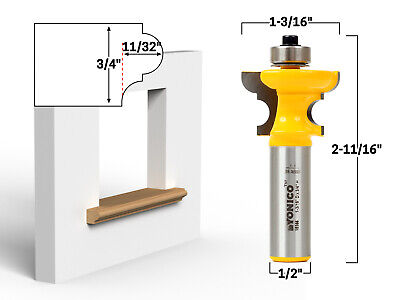 "3/4"" Window Sill Router Bit - 1/2"" Shank - Yonico 18144"