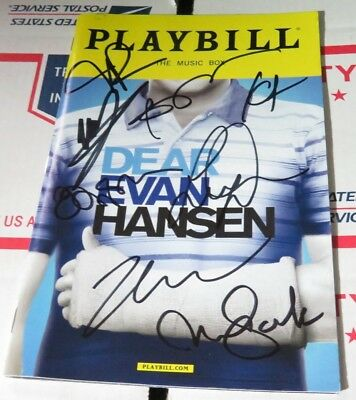 Dear Evan Hansen Galvin Cast Signed Playbill
