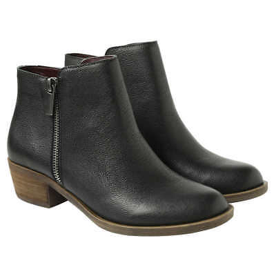 Kensie Women's Black Leather Ghita Short Ankle Boots ~ Various Sizes/ Condition