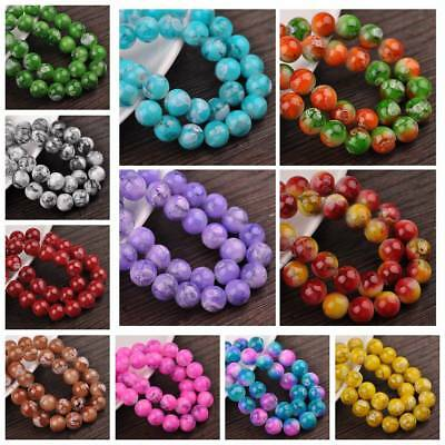 Wholesale 6/8/10/12mm Charms Double Color Glass Round Smooth Spacer Loose Beads