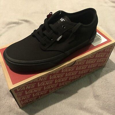 b1ef35785a New Women s Vans Atwood Skateboarding Low Trainers Black Black UK 4.5 BRAND  NEW