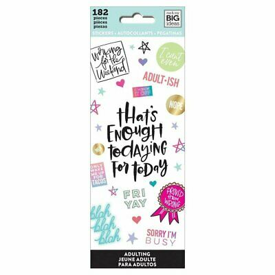 Adulting - Mambi Happy Planner Create 365 Sticker Book 182 Icon Stickers