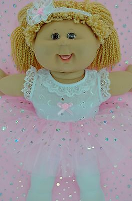 """Play n Wear Doll Clothes To Fit 16"""" Cabbage Patch  PINK TU TU~TIGHTS~HEADBAND"""
