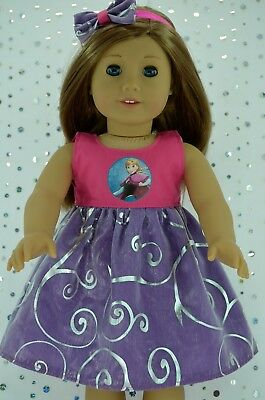 "Doll Clothes for 18"" American Girl~Our Generation~Journey ORGANZA DRESS~HEADBAND"