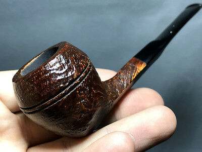 Road Town bulldog straight Style Briar wood craft pipe--- unsmoked
