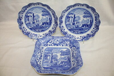 Lot of 3 Pc. Blue Italian by SPODE Camilla Serving Bowls England MINT