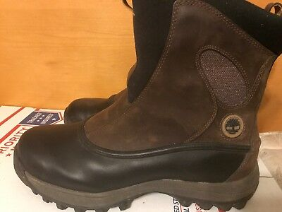 NEW MENS TIMBERLAND CANARD WAPACK THERMOLITE PULL ON LEATHER WATERPROOF BOOTS 8