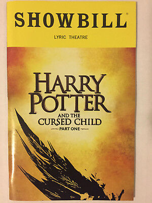 Harry Potter And The Cursed Child Part One Playbill Book Nyc Broadway Oct 2018
