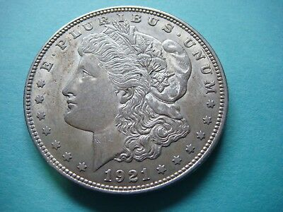 Very Nice Morgan Silver Dollar 1921   90% Silver  This is very nice   #9497