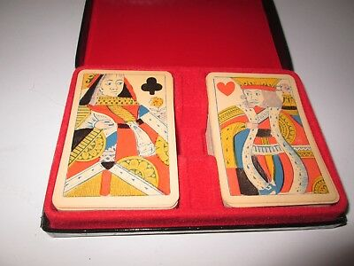 VINTAGE LARGE FACE DOUBLE DECK PLAYING CARDS - BROOKSTONE, Made in England