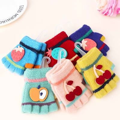 Practical Baby Gloves Kids Warm Half Finger Gloves Infant Baby Soft Wool Mittens