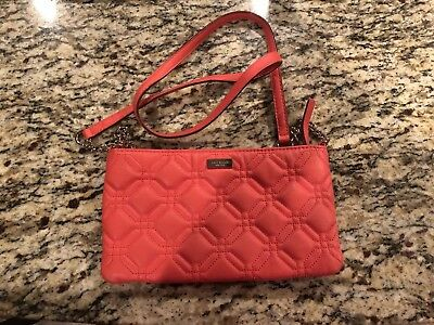Kate Spade Red C Medium Cross Body Quilted Bag Used