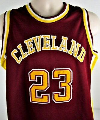 78184ef7914 Cleveland Cavaliers Lebron James   23 NBA Jersey YOUTH X-LARGE Red   Yellow