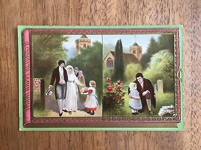 INTERESTING c.1900's PHILCO 'WEDDING & DEATH' MORBID FUNERAL POST CARD (PF1-32)