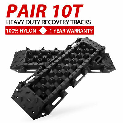 Black 4WD Recovery Tracks 10T Pair Off Road 4x4 ATV Snow Mud Sand Track 10 tons