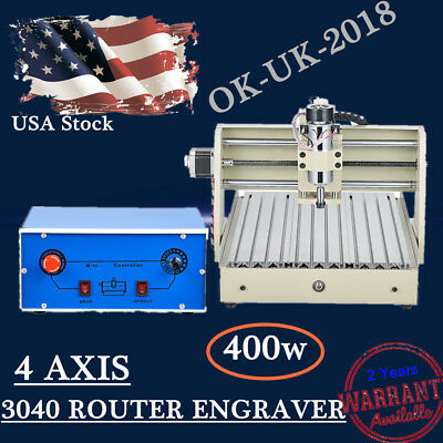 New 3040 ROUTER ENGRAVER ENGRAVING CUTTER 4 AXIS 3040 T-SCREW DESKTOP CUTTING