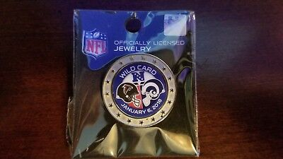 Los Angeles Rams vs. Falcons Game Day Pin 1-6-18 Battle in L.A. WILD CARD GAME
