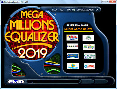 MEGA MILLIONS Lottery Number Picker System Lottery Equalizer 2019 on CD-ROM NEW