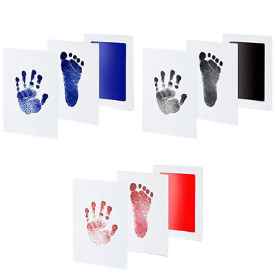 Brand New Inkless Wipe Baby Kids Hand And Foot Print Kit