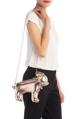 236396ca6 TED BAKER LONDON White Leather Crossbody Bag Roseyy Half Moon Clutch ...
