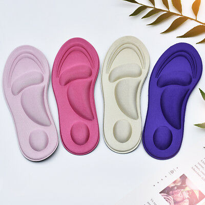 1Pair Sponge Pain Relief 4D Soft Insoles Arch Support Cutting Shoe Pad Foot Care