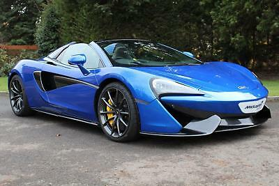 2018 McLaren 570S Spider with Sports Exhaust & Security Pack Petrol blue Sem