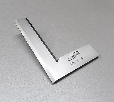 """Square 90º Right Angle Machinist Square Beveled Steel 4"""" -100mm Small Hand Tool"""