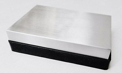 """Steel and Rubber Block 2 Pc Work Bench Blocks Jewelry Flattening & Forming 4""""x6"""""""