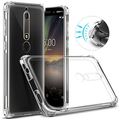 Transparent Soft Clear Case Shockproof Silicone Phone Cover for Nokia 5 6 7 8 9