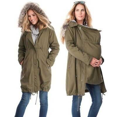 Pregnant Womens Jacket Carrier,Kangaroo coat for MOM and BABY. Maternity Jacket