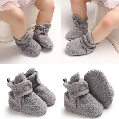 Baby Boy Girl Winter Warm Snow Boots Toddler Infant Soft Sole Slipper Crib Shoes