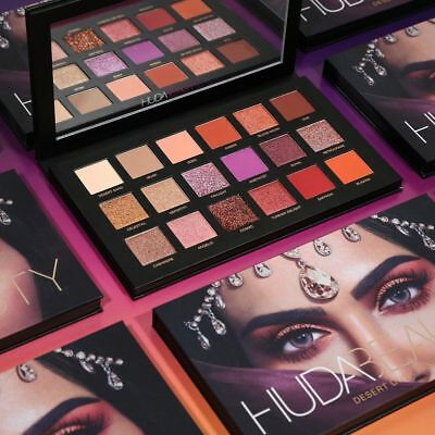 2018 New Huda Beauty Desert Dusk Eye Shadows Palette Eye Shadows 18 Colors