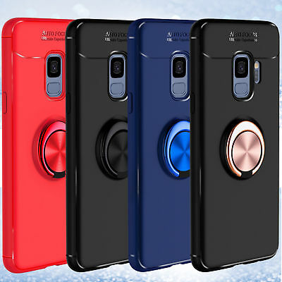 For Samsung Galaxy S9/S9+ Plus Slim Ring Holder Shockproof TPU Armor Case Cover