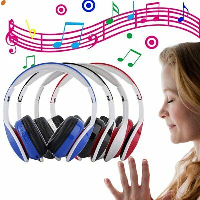 Foldable Wireless Bluetooth Stereo Headset Headphones Handsfree Mic For iPhone