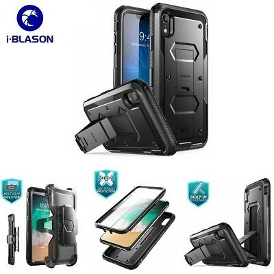 new arrivals 0cc0f fc1ed FOR IPHONE XR Case, i-Blason Armorbox Protection Cover +Screen +Kickstand  +Clip