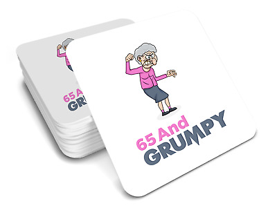 65th Birthday Happy Present Gift Idea For Women Her Female Keepsake Coaster