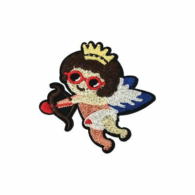 Iron On Embroidery Applique Patch Sew Iron Badge Angel Cherub Bow