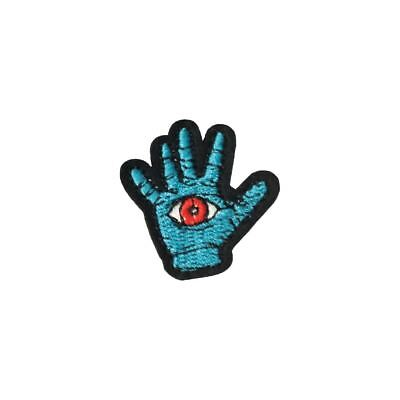 Eye Blue Hand (Iron On) Embroidery Applique Patch Sew Iron Badge