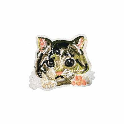 Cat Face Paws (Iron On) Embroidery Applique Patch Sew Iron Badge