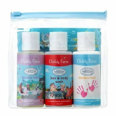 Childs Farm Top To Toesie Kit (Bubble Bath/Wash/Moisturiser) 3 x 100ml